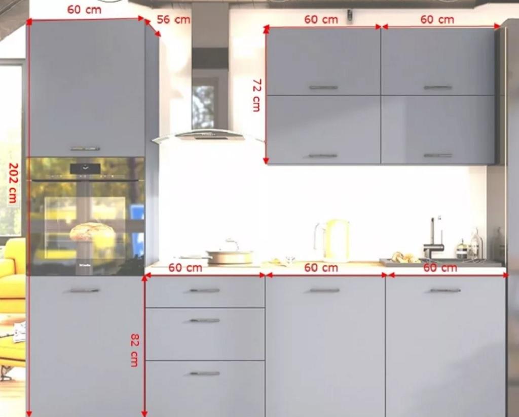 Rozměry kuchyně Lisa