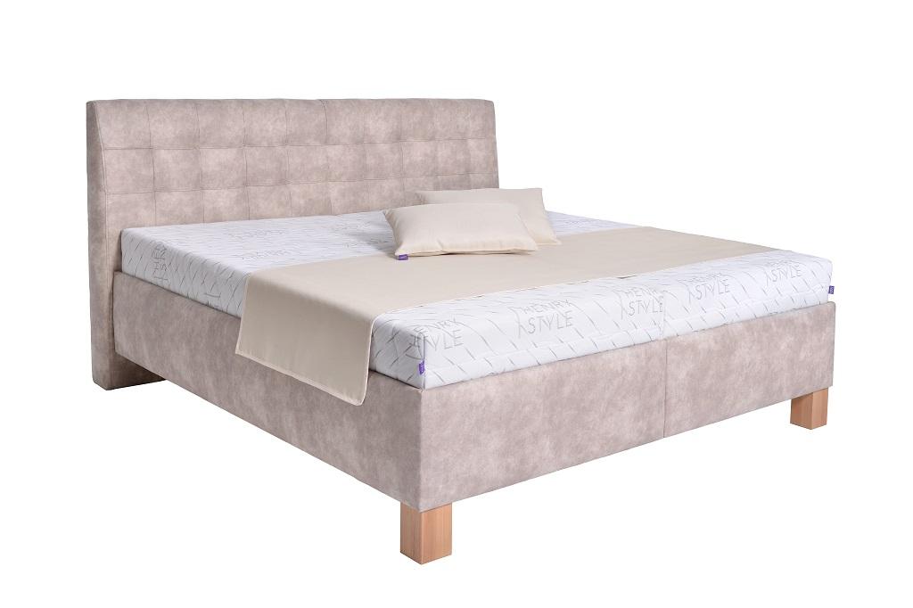 Čalouněná postel Victoria v interiéru