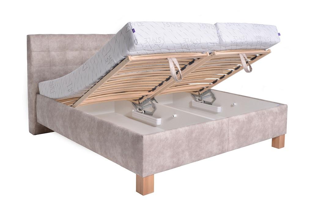 Čalouněná postel Victoria - úložný prostor