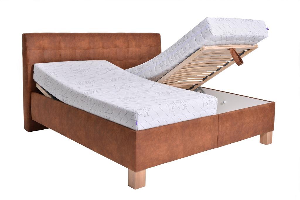 Čalouněná postel Victoria - funkce polohování