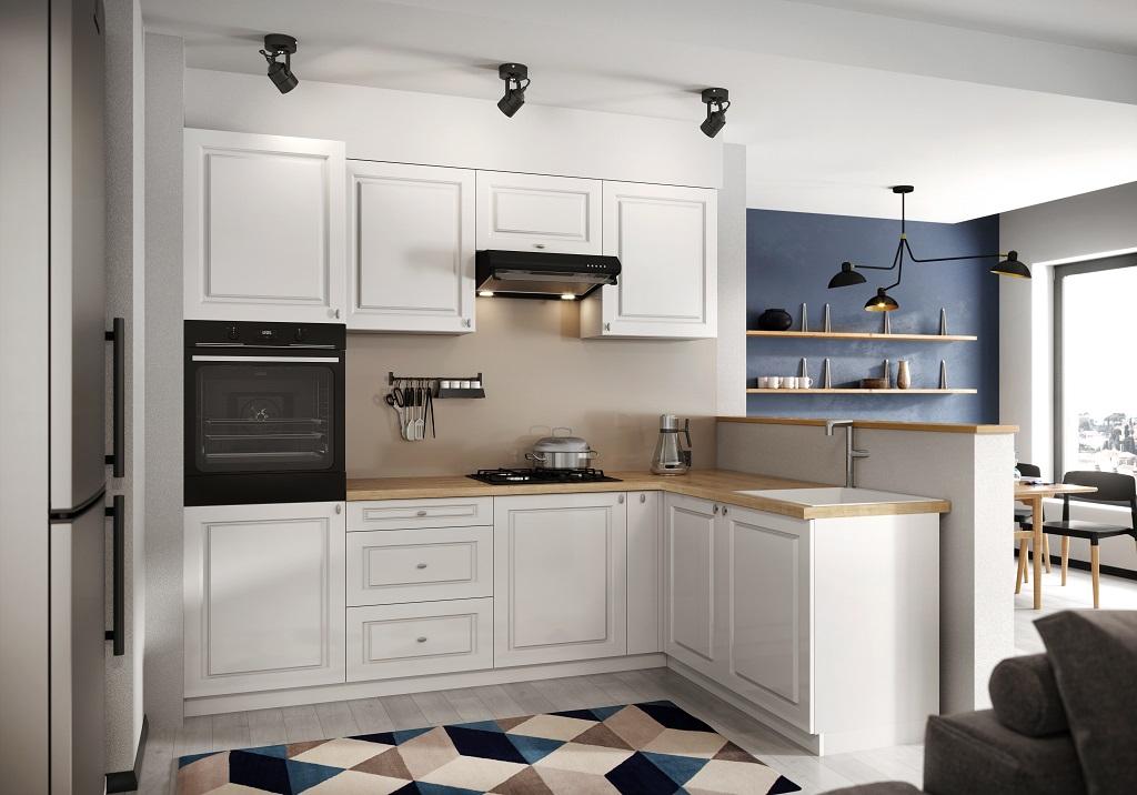Rohová kuchyňa v štýle Provence Amelia