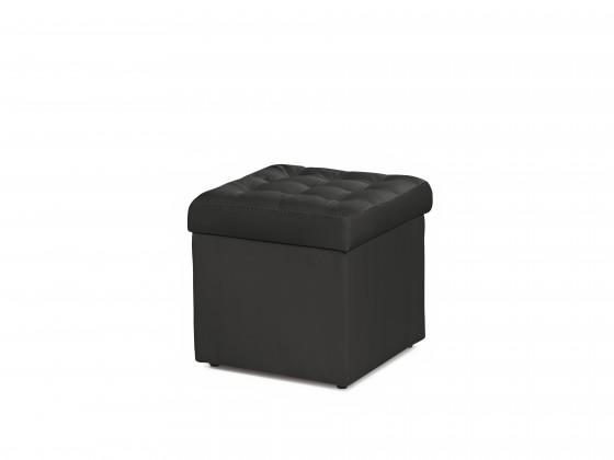 Čierna taburetka s úložným priestorom