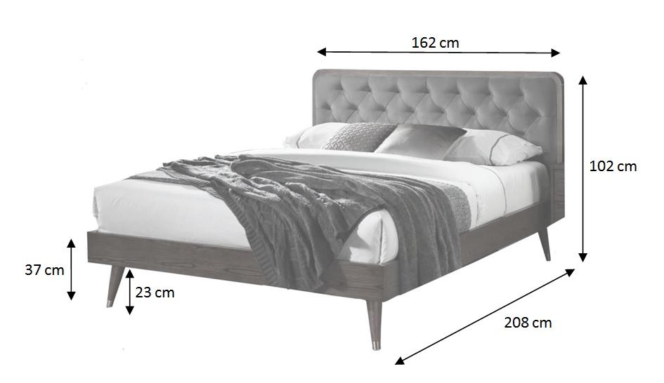 Rozmery drevenej postele Vivien