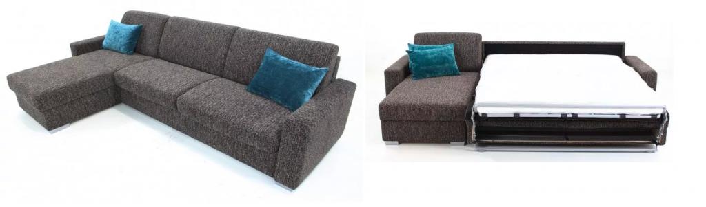 Rohová sedačka Nina v sobě skrývá matraci vhodnou na každodenní spaní