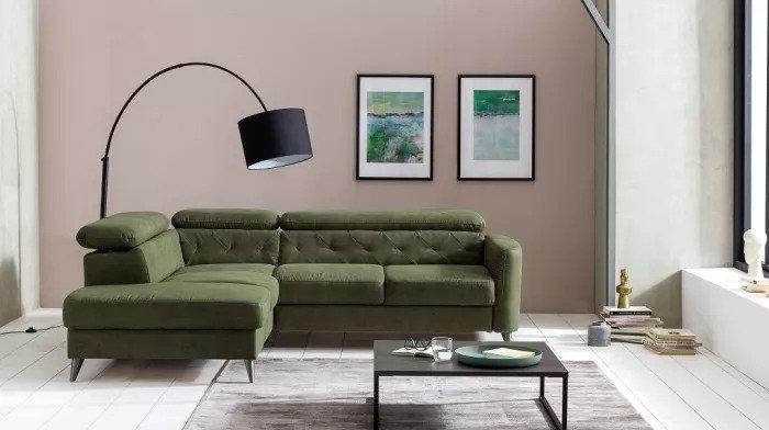 Elegantní tmavě zelená uklidňuje. Sedačka San Bernardino