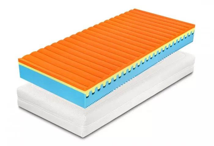 Matrace Sweet Sleep je oboustranná, můžete tak spát na tužší straně z flexi foam pěny nebo na měkčí z paměťové pěny.