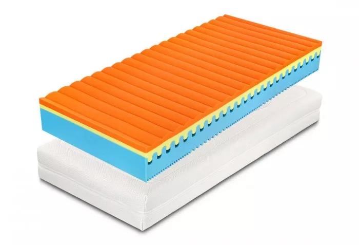 Oboustranná Matrace Sweet Sleep umožňuje střídat stranu z paměťové pěny, nebo stranu  s tvrdší flexifoam pěnou.