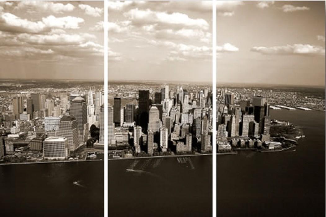 3 dílný obraz New York 30x60 cm