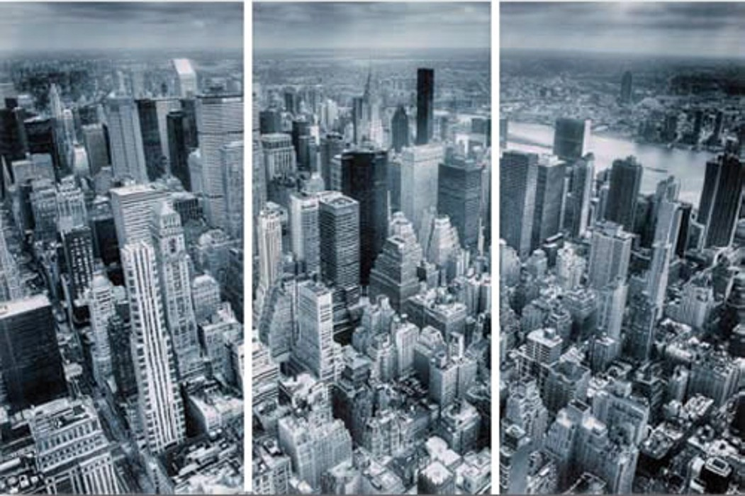 3 dílný obraz New York View 30x60 cm