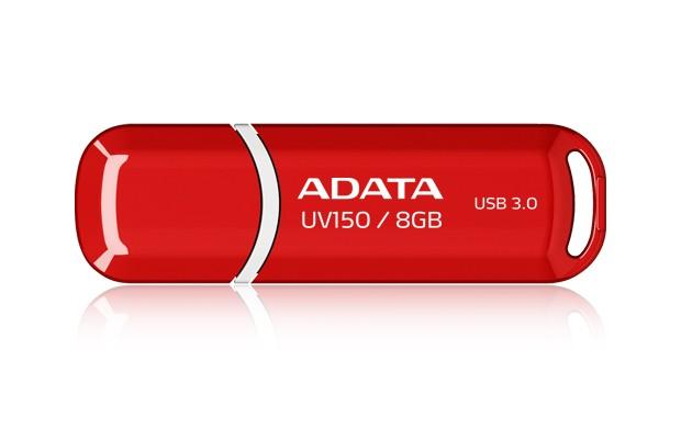 A-Data UV150 8GB, USB 3.0, červený