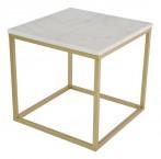 Accent - Konferenční stolek, hnědý rám (přírodní mramor, ocel)