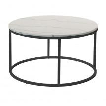 Accent - Konferenční stolek kruhový, nižší (mramor, černá)