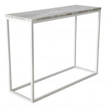 Accent - Přístavný stolek, obdélník (mramor, bílá)
