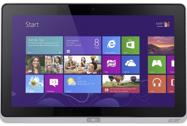 Acer Iconia Tab W700P (NT.L0REC.004) stříbrný