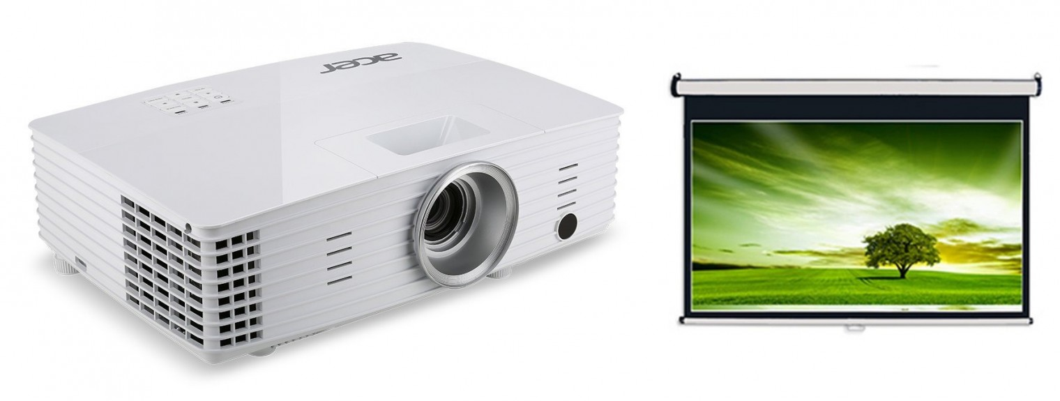 Acer P1185 + Projekční plátno AVELI, 204x115cm (XRT00083)