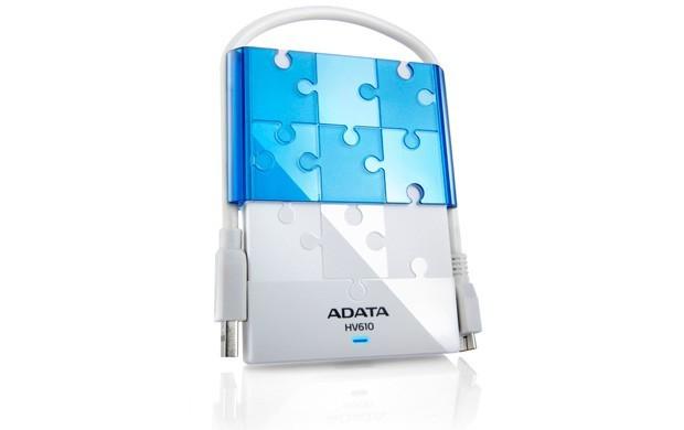 """ADATA Externí HDD 1TB 2,5"""" USB 3.0 DashDrive HV610, bílý"""