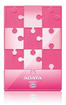 """ADATA Externí HDD 1TB 2,5"""" USB 3.0 DashDrive HV611, růžový"""