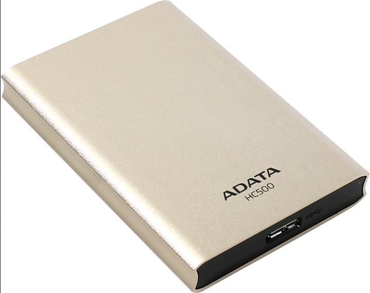 "ADATA Externí HDD 500GB 2,5"" USB 3.0 HC500, zlatá"