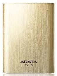 ADATA PV110 Power Bank 10400mAh, zlatá ROZBALENO
