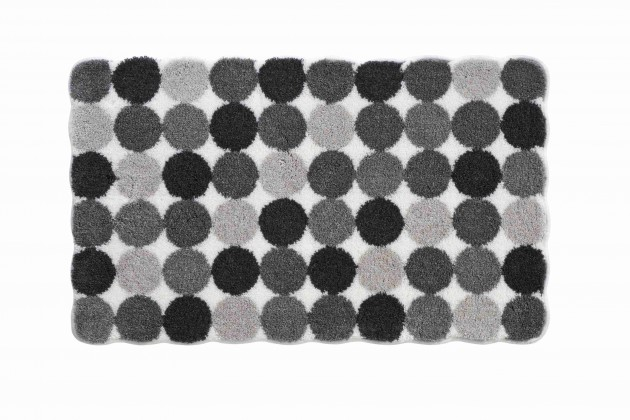 Agarthi - Koupelnová předložka 60x100 cm (světle šedá-černá)