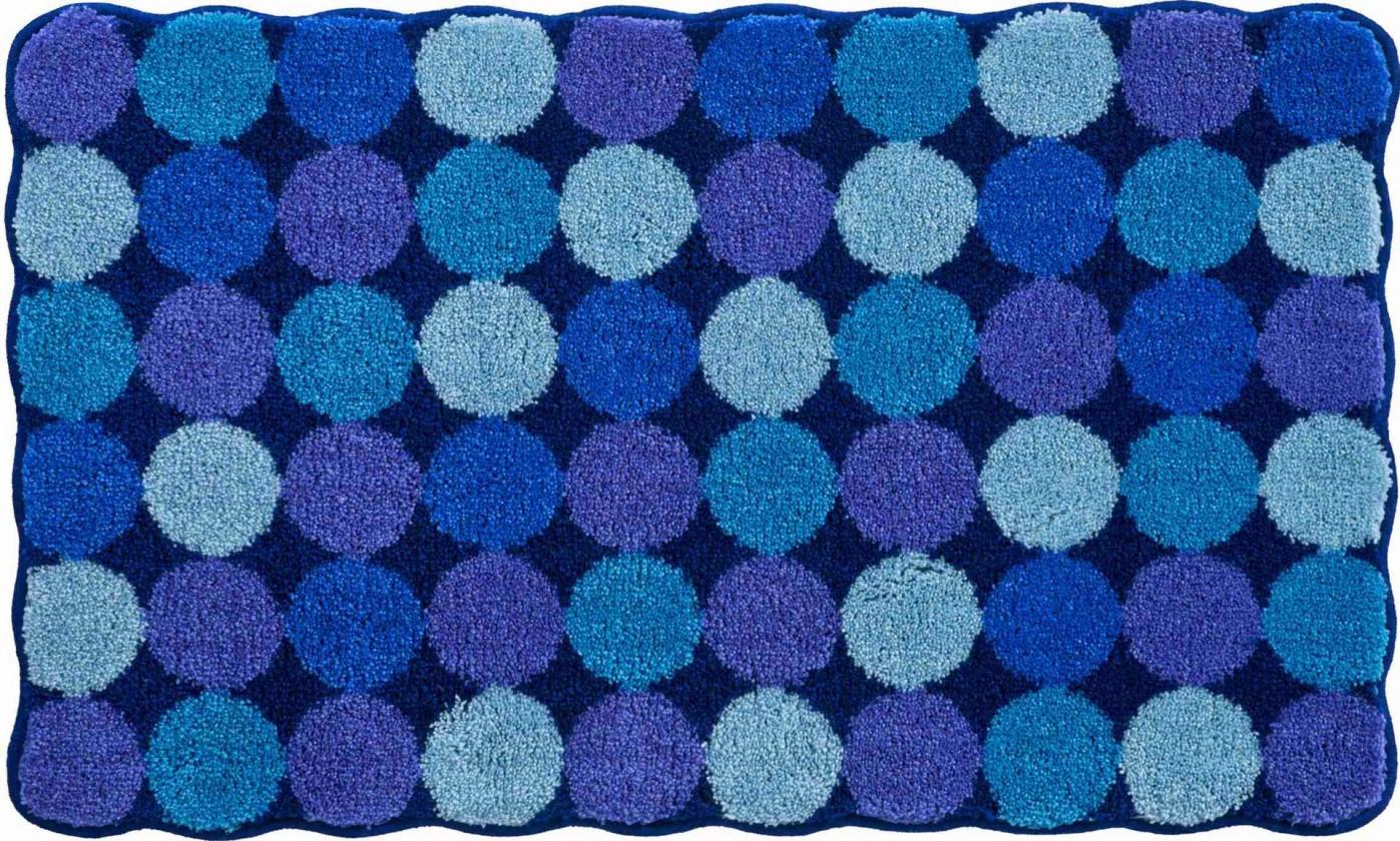 Agarthi - Koupelnová předložka 70x120 cm (modro-tyrkysová)