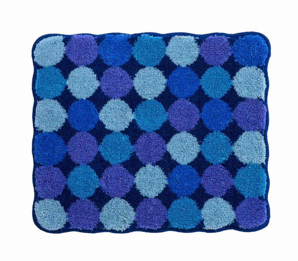 Agarthi - Koupelnová předložka malá 50x60 cm (modrá)