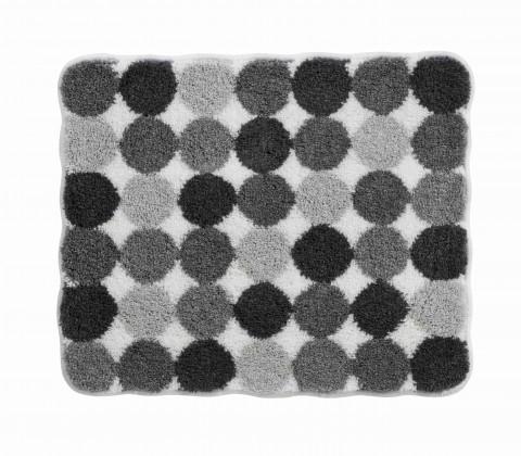 Agarthi - Koupelnová předložka malá 50x60 cm (světle šedá-černá)