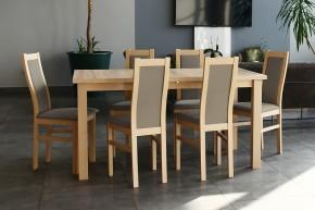 Agáta - Set 6x židle, 1x stůl + rozklad (sonoma/madryt 126)