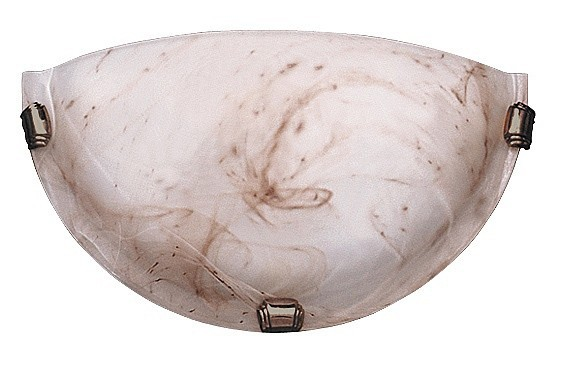 Alabastro - Nástěnná svítidla, E27 (alabastrová/bronzová )