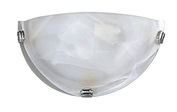 Alabastro - Nástěnná svítidla, E27 (bílá alabastrová/chrom )