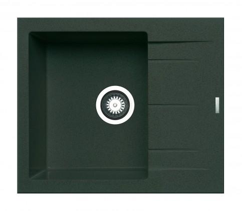 Alazia - Granitový dřez 59x50, šedá