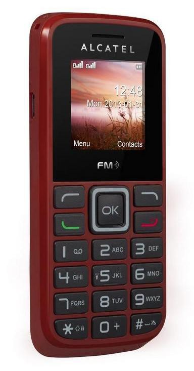 Alcatel One Touch 1010D Deep Red