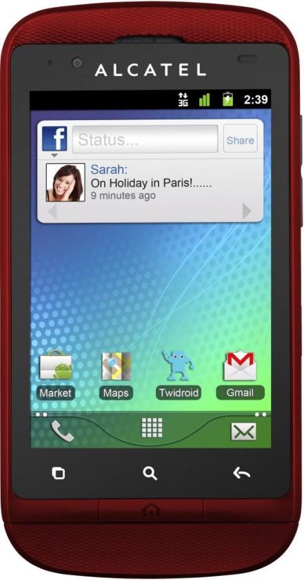 Alcatel One Touch 918 výměnný kryt, Cherry Red