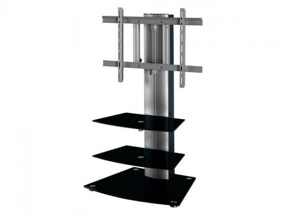 Alladyn - TV stolek s držákem (černá/stříbrná)
