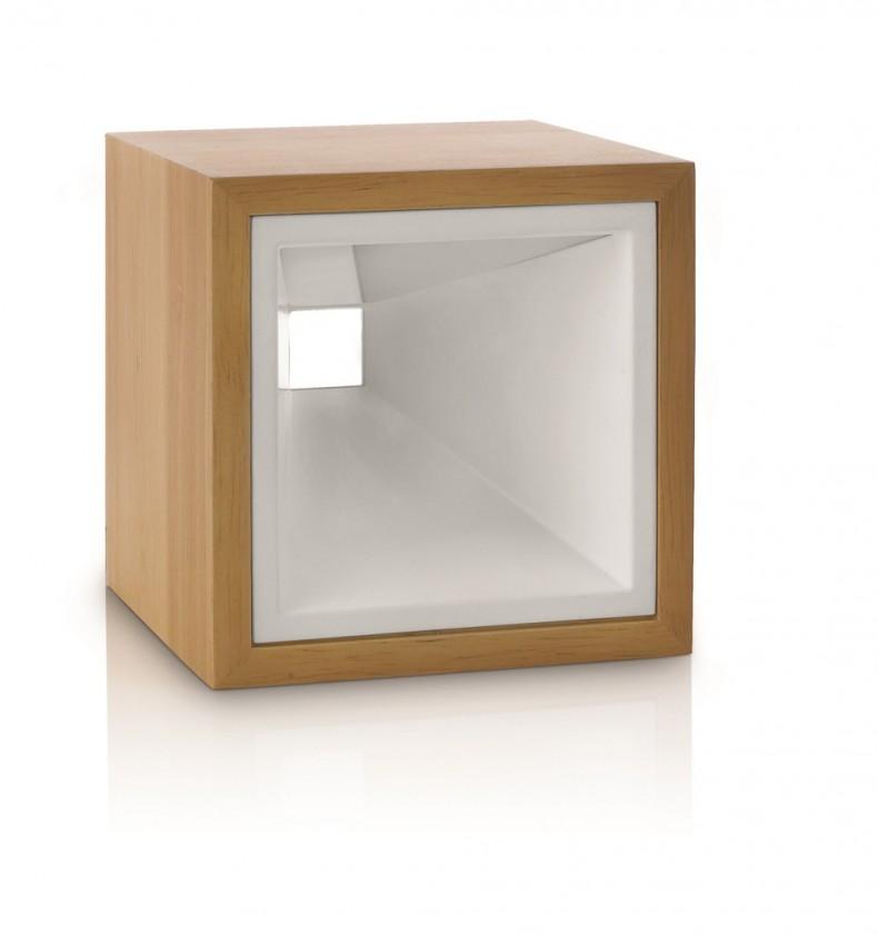 Aloha - Lampička LED, 12,5cm (světlé dřevo)