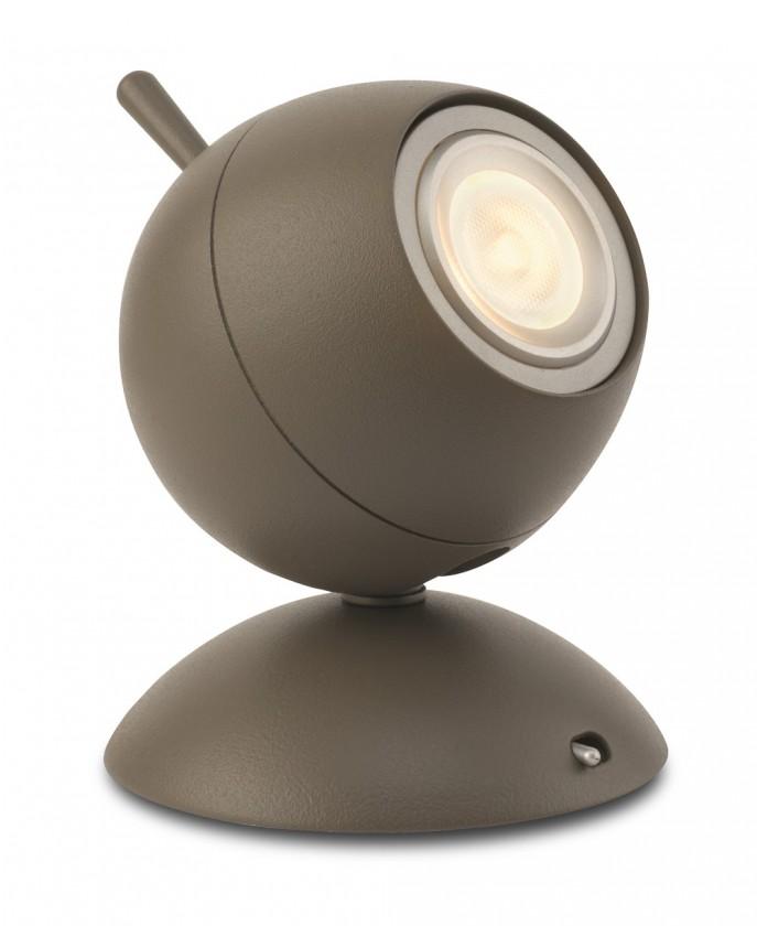 Aloha - Lampička LED, 9,4cm (matovaná hnědá)