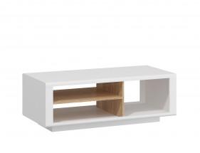 Amber - Konferenční stolek (bílá/dub jantarový)
