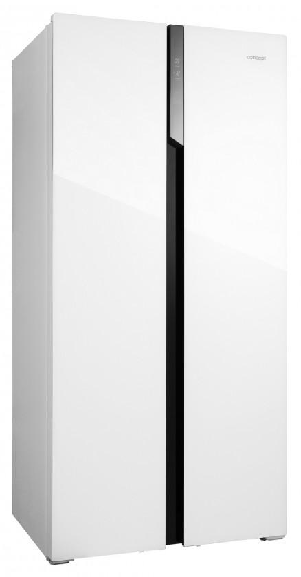 Americké lednice Americká chladnička Concept LA7383wh bílé sklo