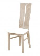 Andre I - jídelní židle (dřevo - dub sonoma/potah - syntetická kůže)