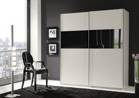 Arezzo1 - Šatní skříň, 179/198/64 (bílá, černá)