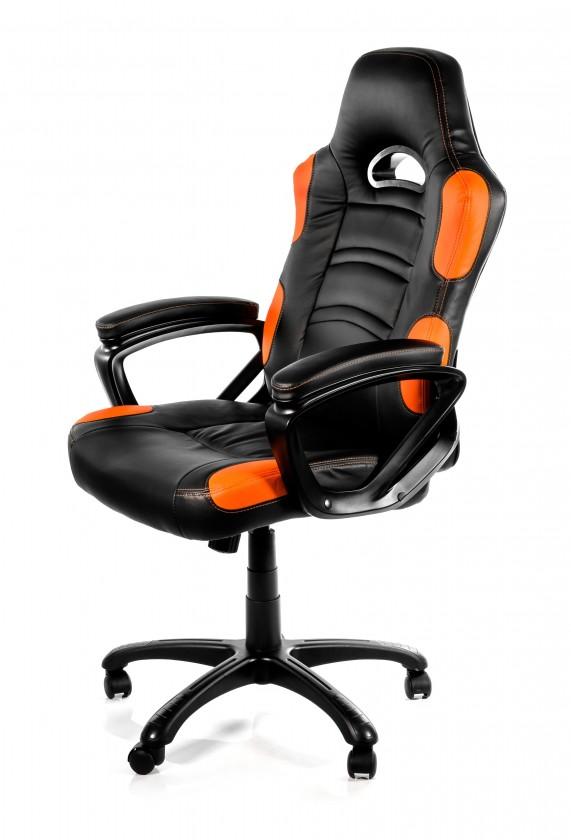 AROZZI herní židle ENZO/ černooranžová