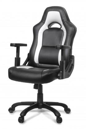AROZZI herní židle MUGELLO/ černobílá