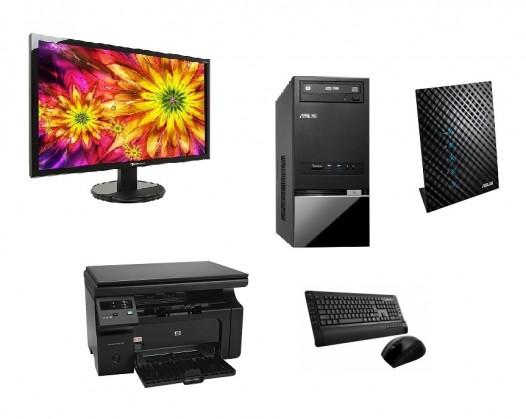 Asus K5130-CZ003S + monitor, tiskárna, router a bezdrátový set