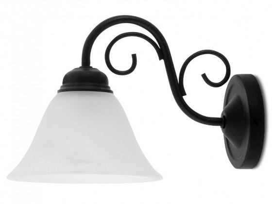 Athen - Nástěnné osvětlení, 7811 (matně černá/bílá alabastrová)