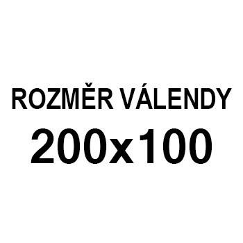 Athos - roh pravý, 200x100 (paris 80, korpus, bok/paris 21, lem)