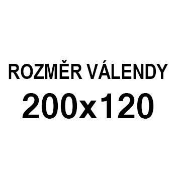 Athos - roh pravý, 200x120 (paris 25, korpus, bok/paris 16, lem)