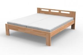 Augusta - Rám postele 200x160, matrace (masiv buk, přírodní lak)