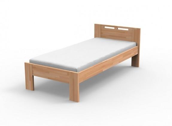 Augusta - Rám postele 200x90, matrace (masiv buk, přírodní lak)