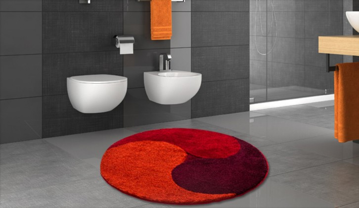 Aum - Předložka kruh, průměr 100 cm (teplá červená-švestková)