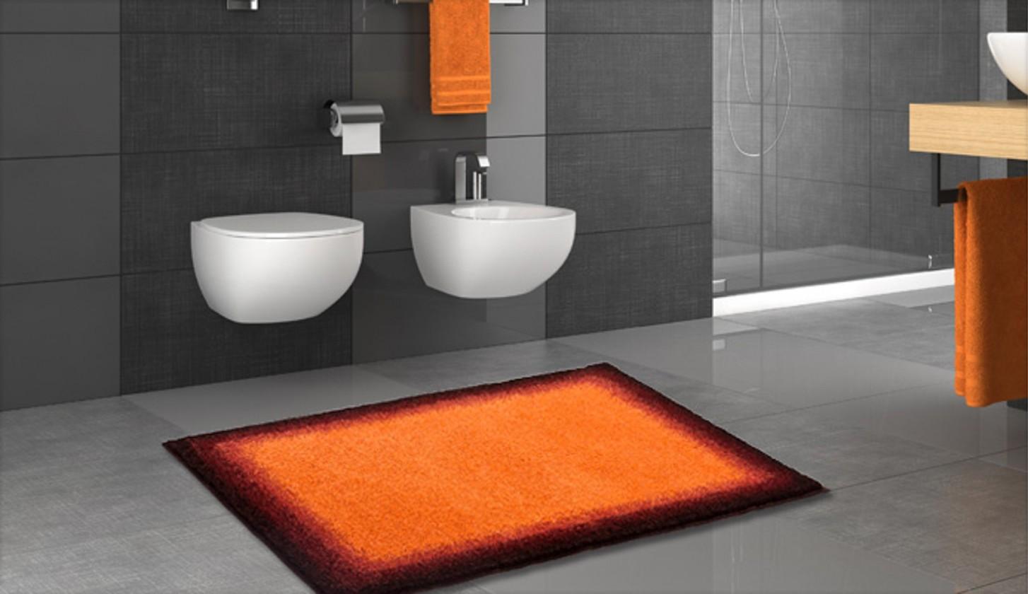 Avalon - Koupelnová předložka 60x100 cm (oranžová-černá)
